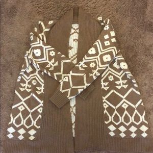 Old Navy open front Aztec chunky knit cardigan